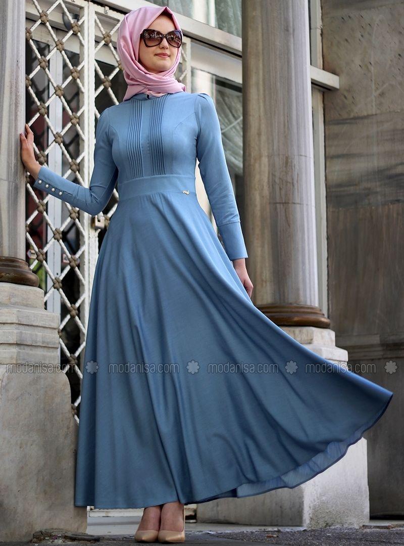 Robe jean pour hijab