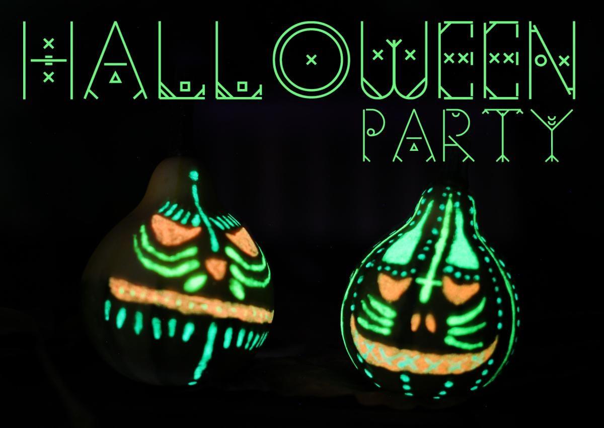 Schaurig Leuchtende Einladungskarten Zu Halloween #halloween #einladungen