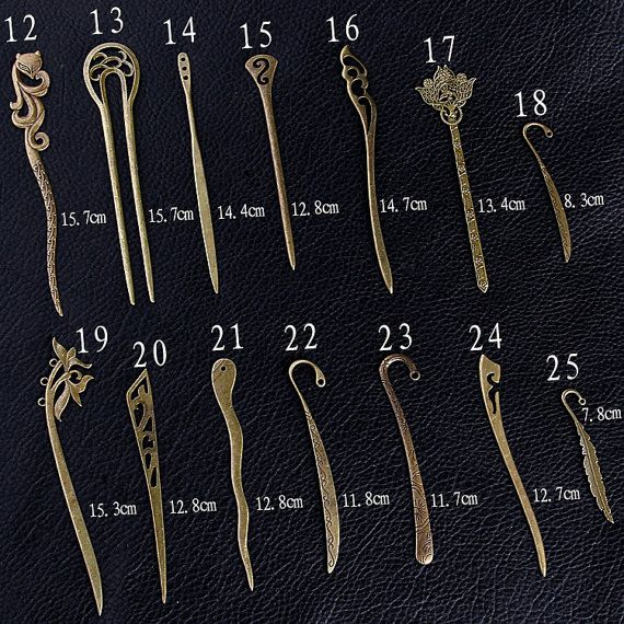 10pcs 14 Desings For Choose Antique Bronze Hair by rosediy2015