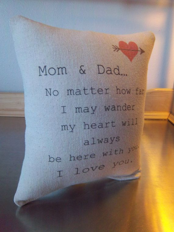 Christmas Gift For Mom And Dad.Mom And Dad Pillow Mom Dad Christmas Gift By