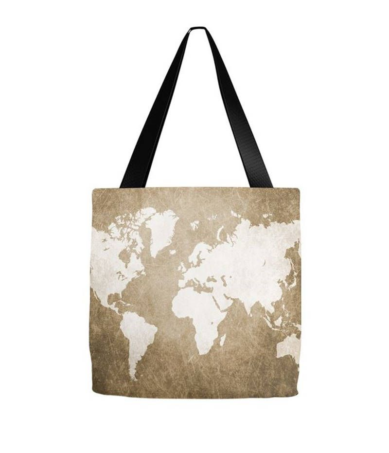 Tote bag all over print design 56 world map brown sepia digital art tote bag all over print design 56 world map brown sepia digital art by l gumiabroncs Images