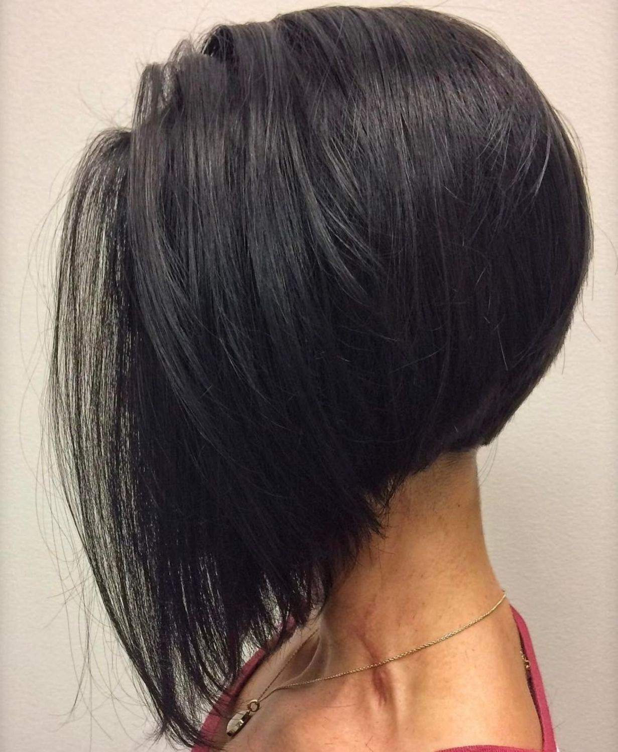 Long Inverted Bob With Elongated Front In 2020 Kapsels Bob Kapsels Dun Haar Kapsels Dun Haar