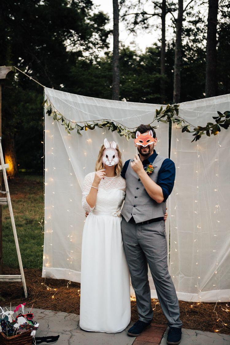 Adventure inspired woodland wedding in north carolina navy blue