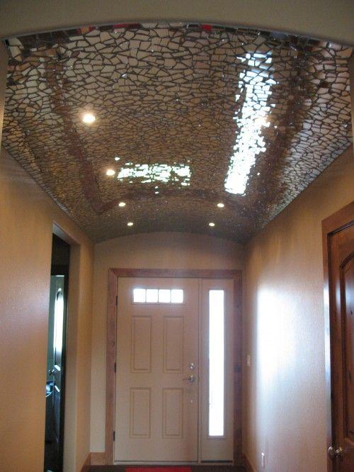 Broken Mirror Mosaic Ceiling Imagine Candle Light Glimmer