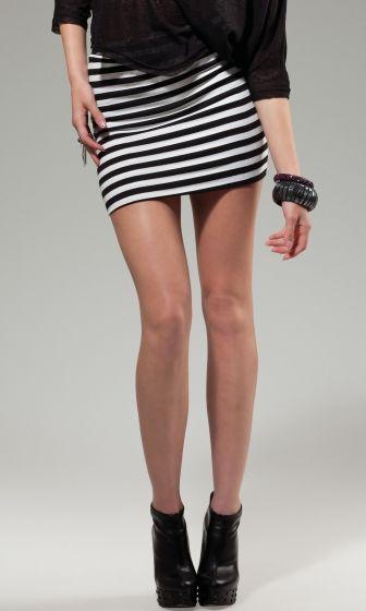 Minifalda rayada