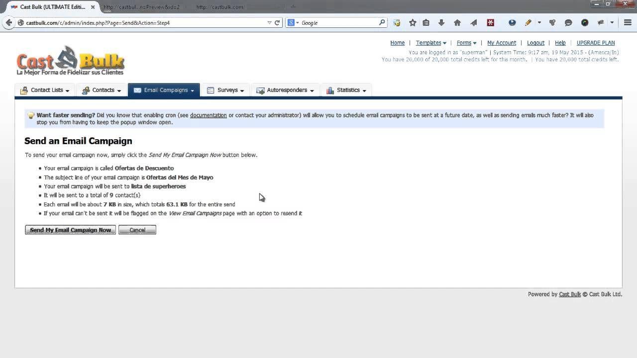 Http Www Castbulk Com Castbulk Es La Plataforma De Email
