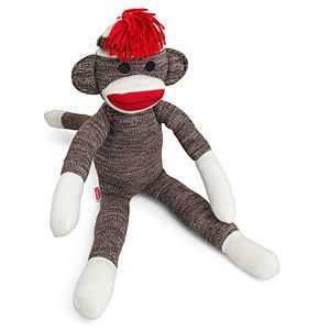 Infinitely cute in its ugliness, the Sock Monkey is happy to be your best friend.