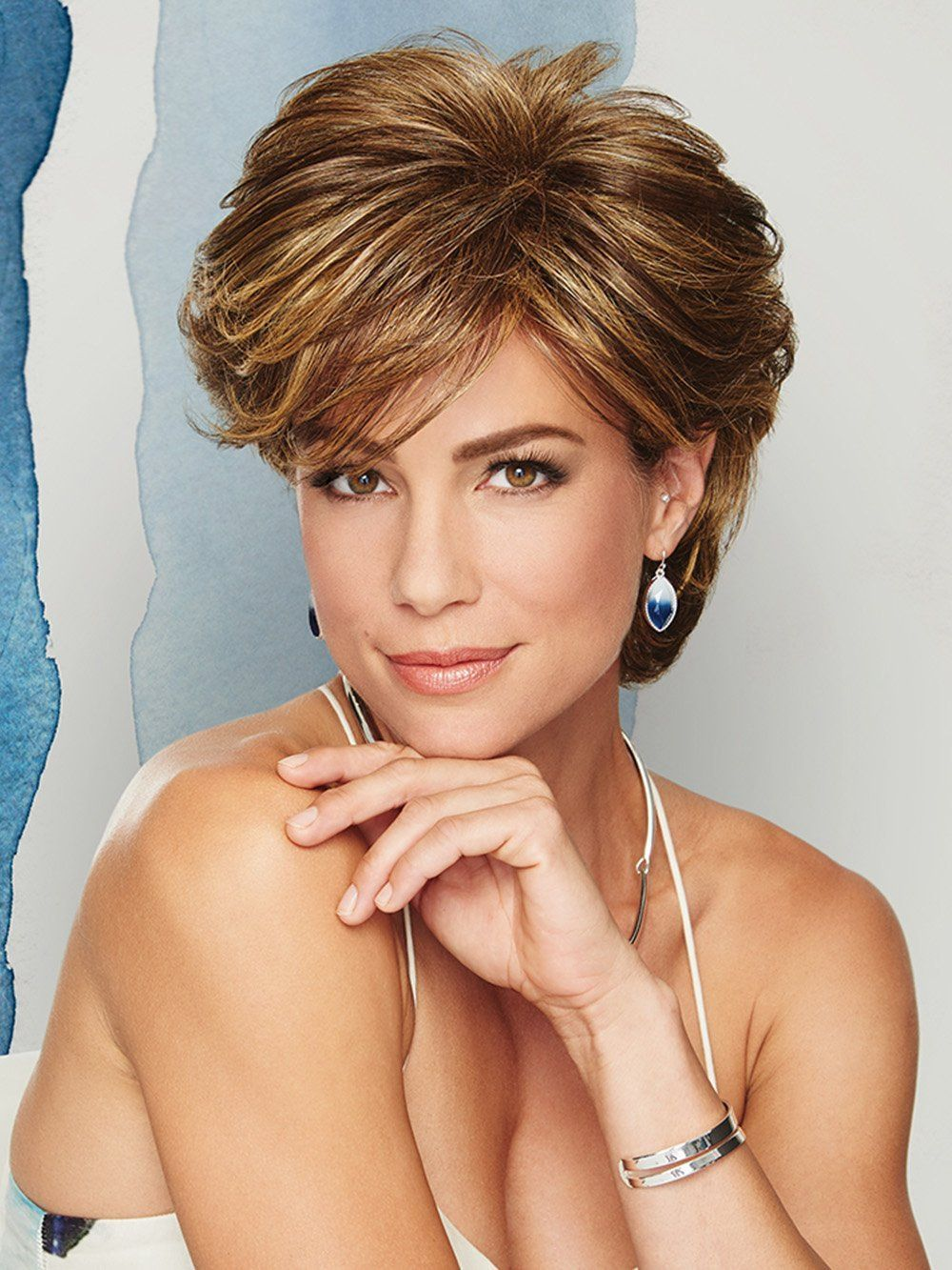 """Wavy Short 4"""" Capless Layered Best Synthetic Wigs Online"""