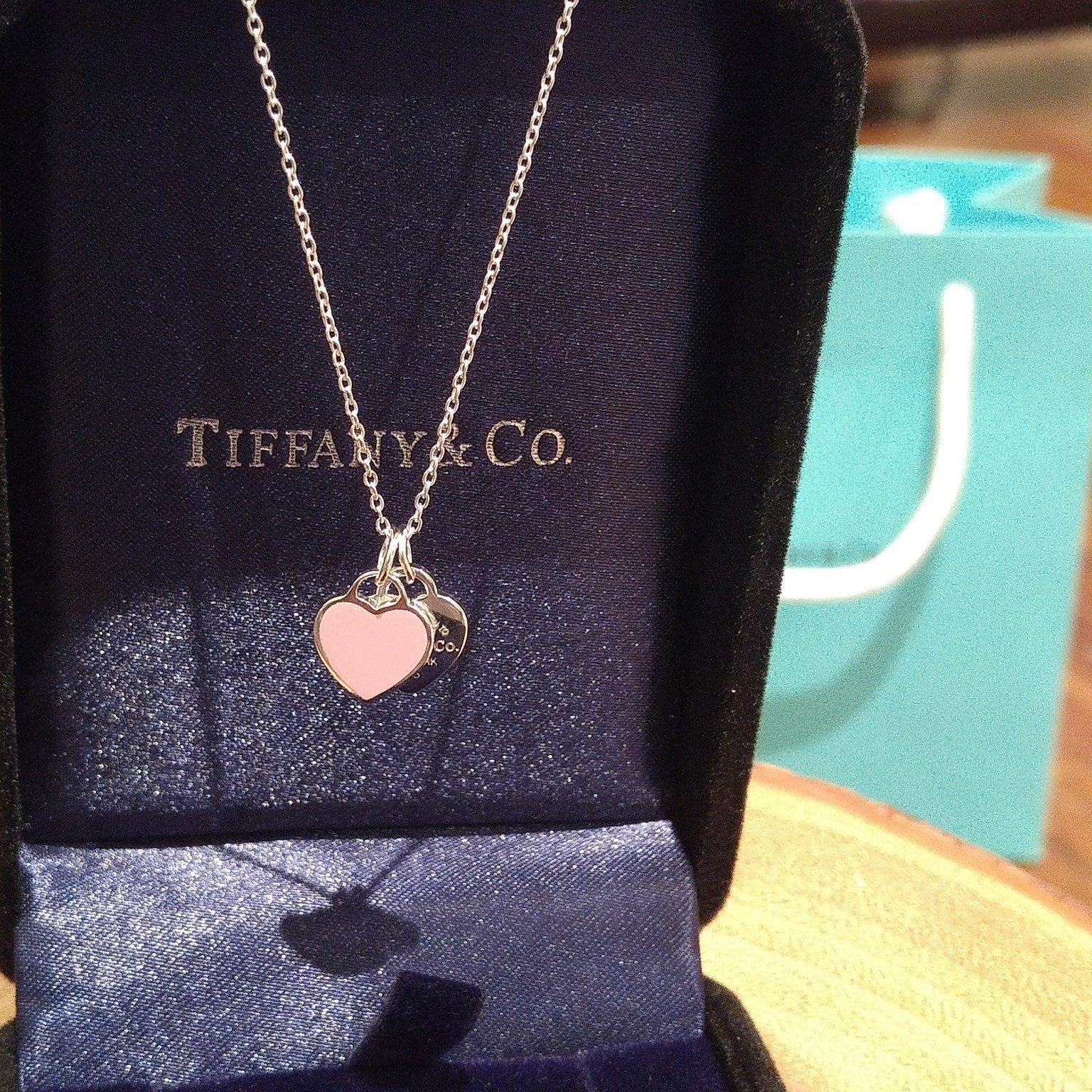 Return To Tiffany Mini Double Heart Tag Pendant Inspired By The Iconic Key Ring First Introduced In 1969 The Return Azurite Jewelry Tiffany Jewelry Jewelry
