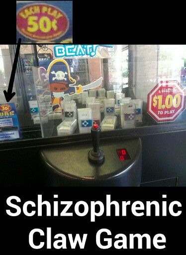 Schizophrenic Claw Game - You can see the machine in question at Winco Foods on Clearwater in Kennewick.