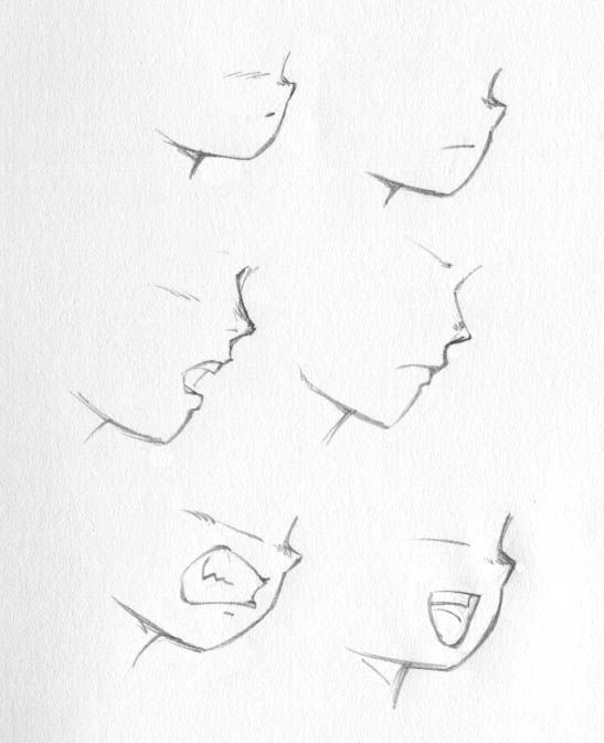 how to draw anime lips | STRIDERBADGUY'S ART TIPS! (Drawing Heads: faces, eyes, mouths, and ...