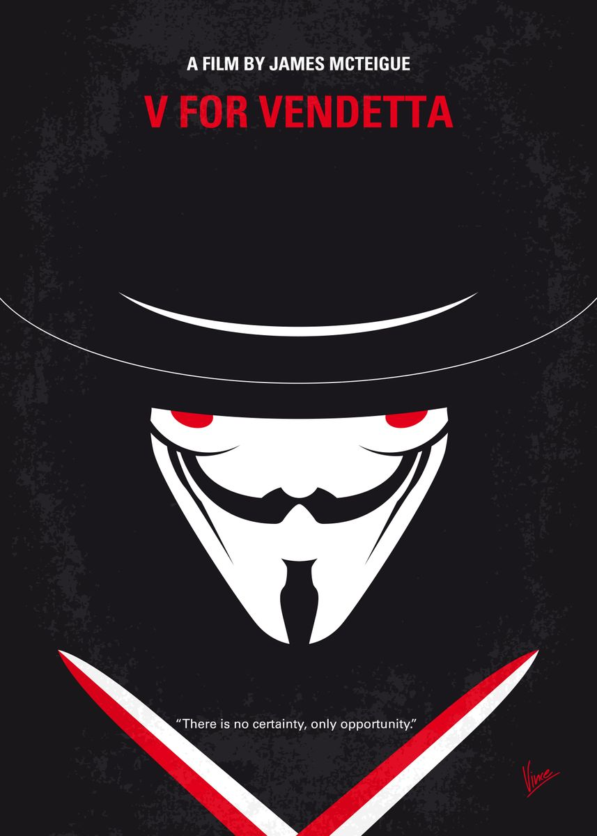No319 My V For Vendetta Minima Poster Art Print By Chungkong Art Displate In 2021 Movie Posters Minimalist V For Vendetta V For Vendetta Poster
