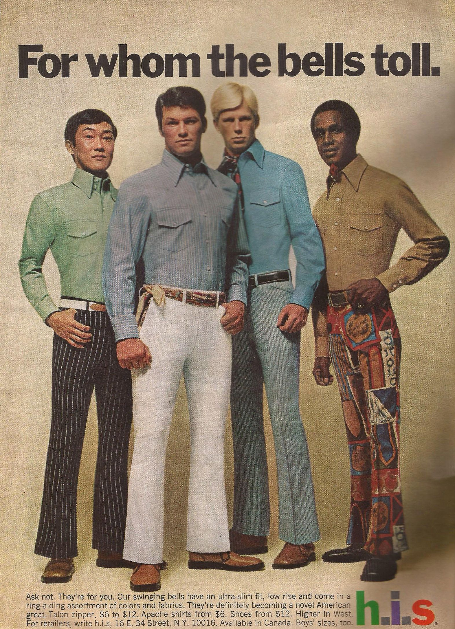 Men\u0027s Trousers Ad from Playboy, May 1969 in 2019