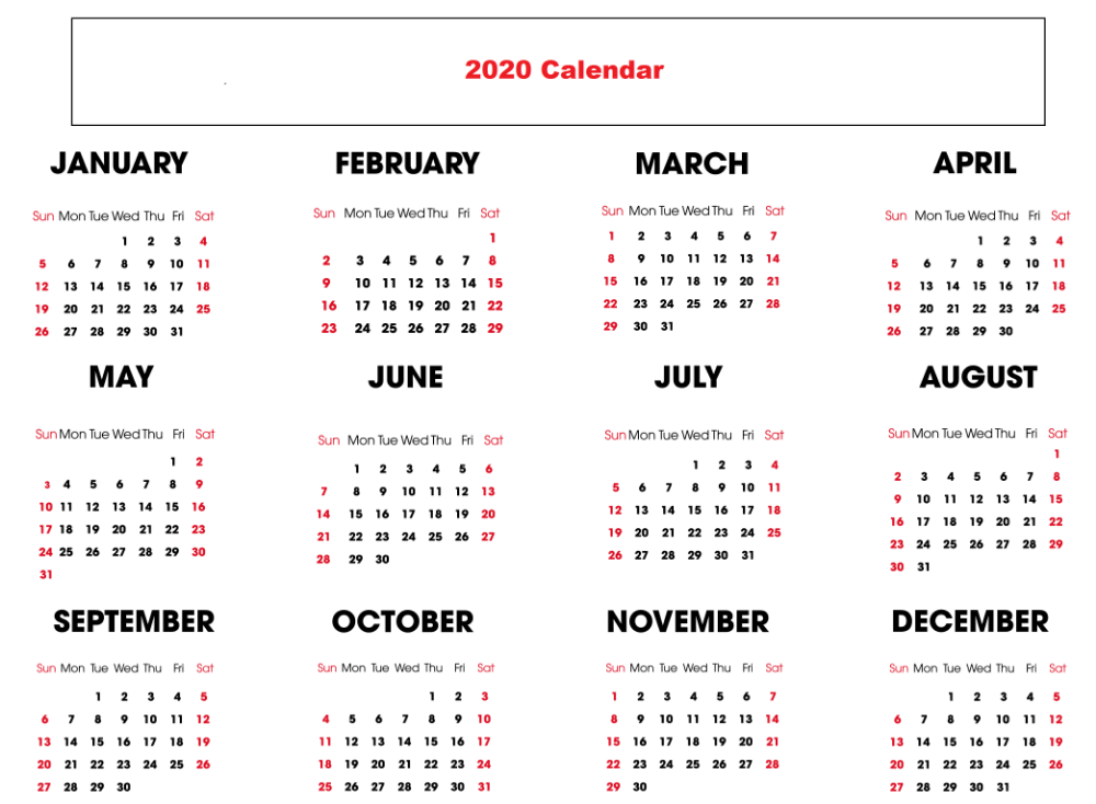 Downloadable Yearly Calendar 2020 Printable Free Printable Calendar Templates Printable Calendar Template Free Calendar Template