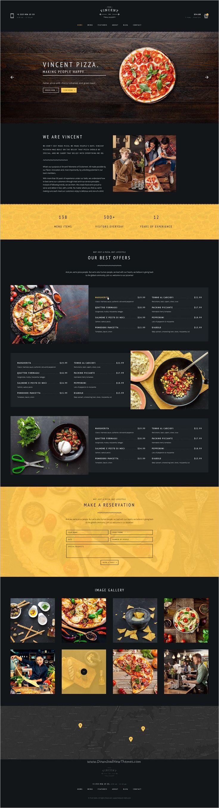 Pizza PSD | Vincent Pizza | Limon