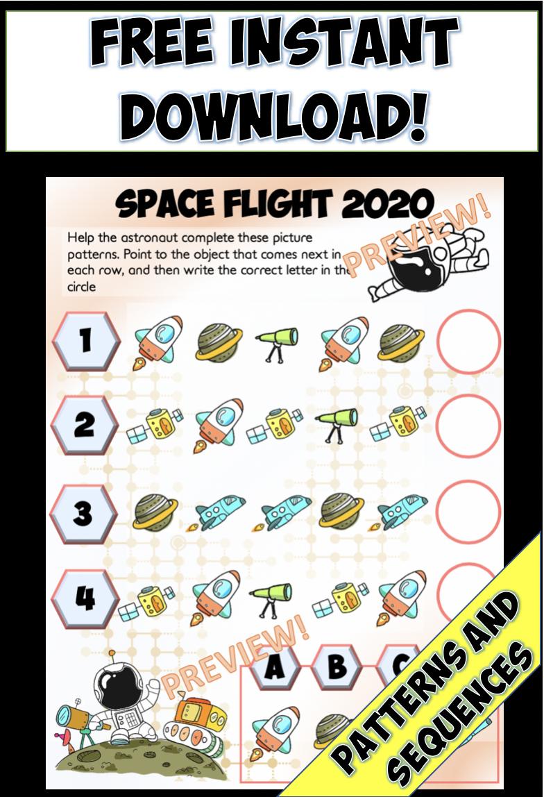 Space Flight 2020 Math Sequences And Patterns Math Patterns Math Freebie Math [ 1148 x 784 Pixel ]