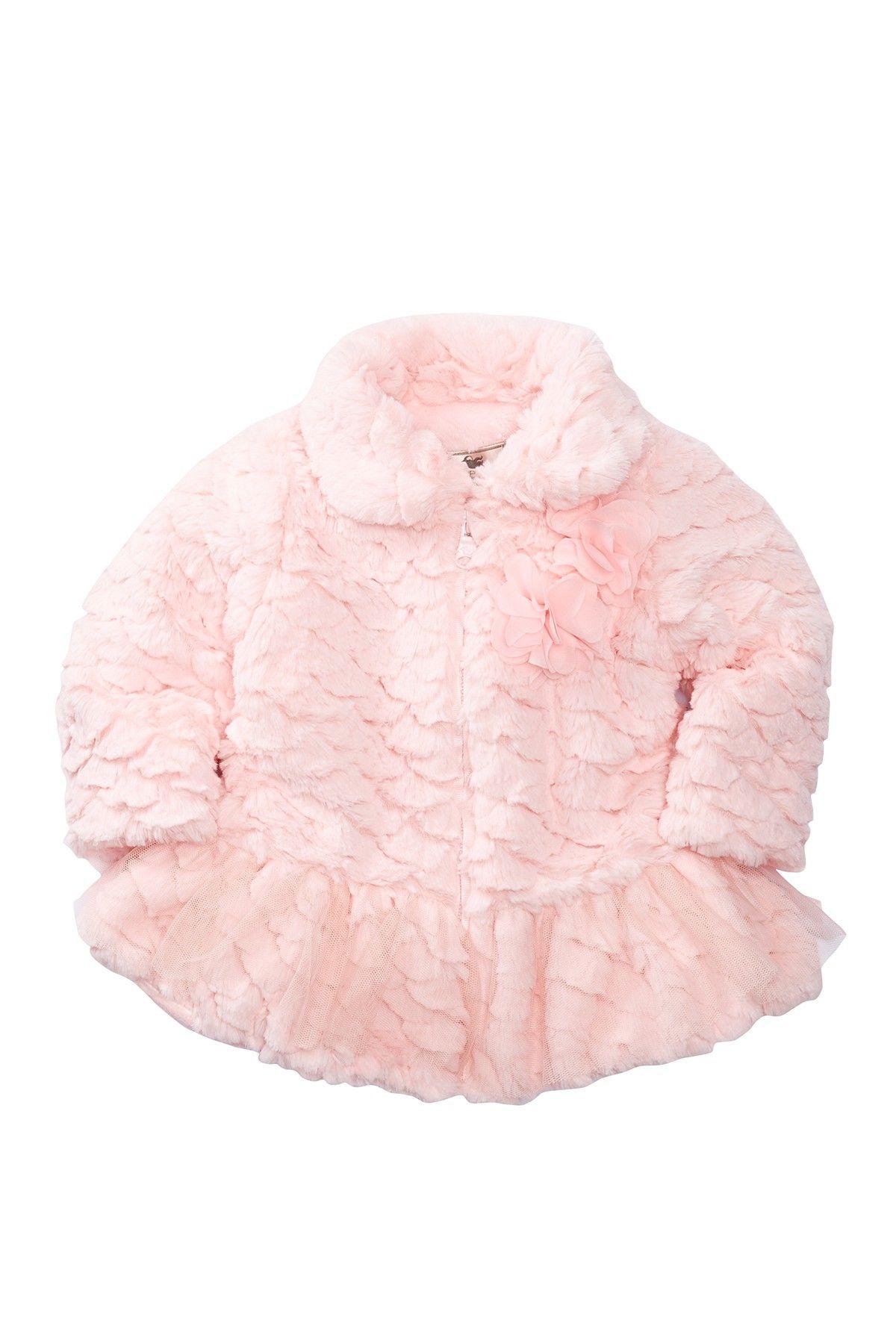 Saras Prints Tutu Faux Fur Coat Baby Girls Nordstrom Rack Fur Coat Kids Coats Faux Fur Coat