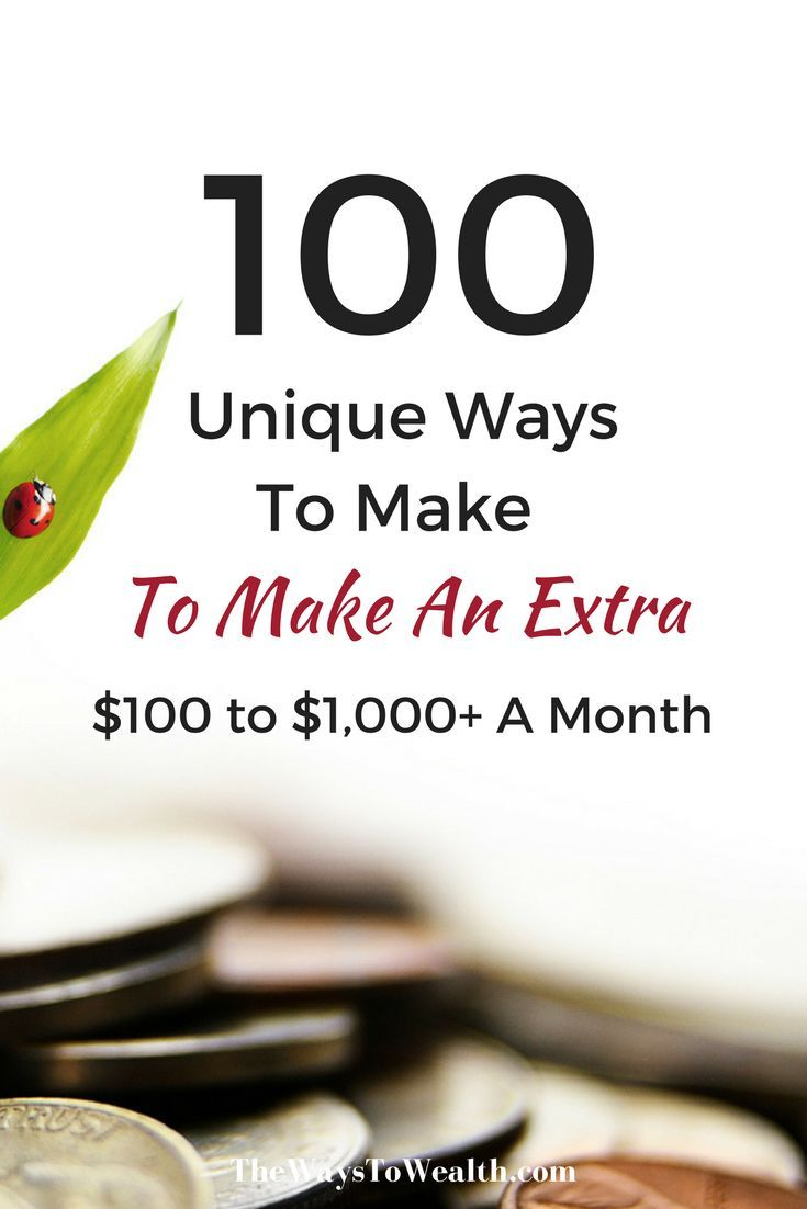 100+ Ways You Can Make Money In Your Spare Time This Month | Extra ...