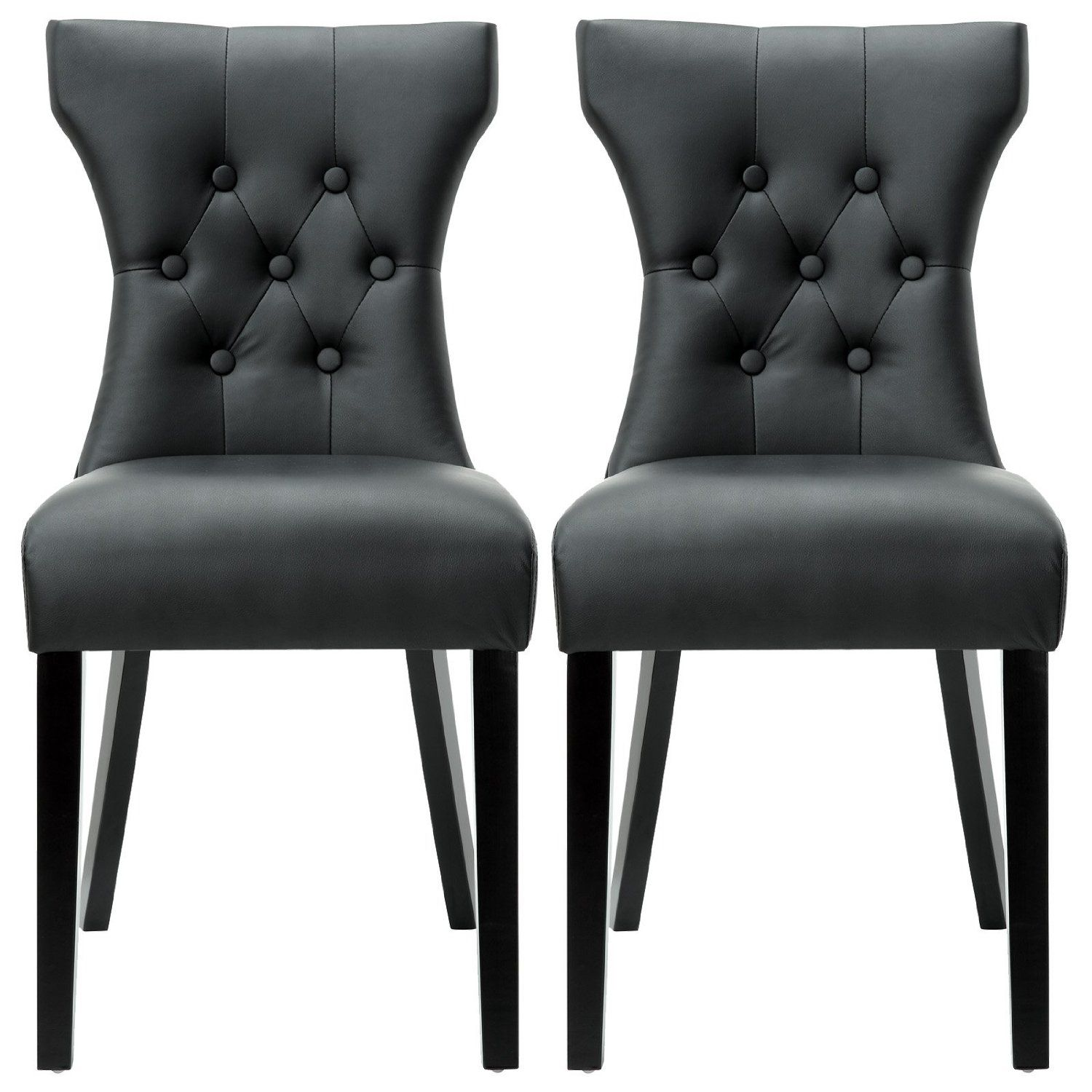 Amazon Com Lexmod Silhouette Modern Dining Chair In Black Side