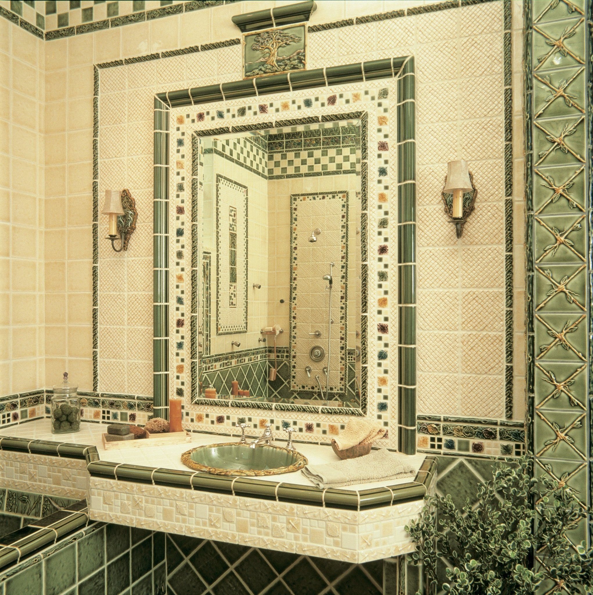 Beautiful Decorative Wall Tiles Bathroom Component - The Wall Art ...
