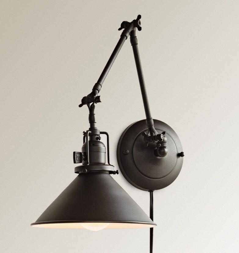 Industrial Swing Arm Wall Lamp Wall Lamp Reed Plug In