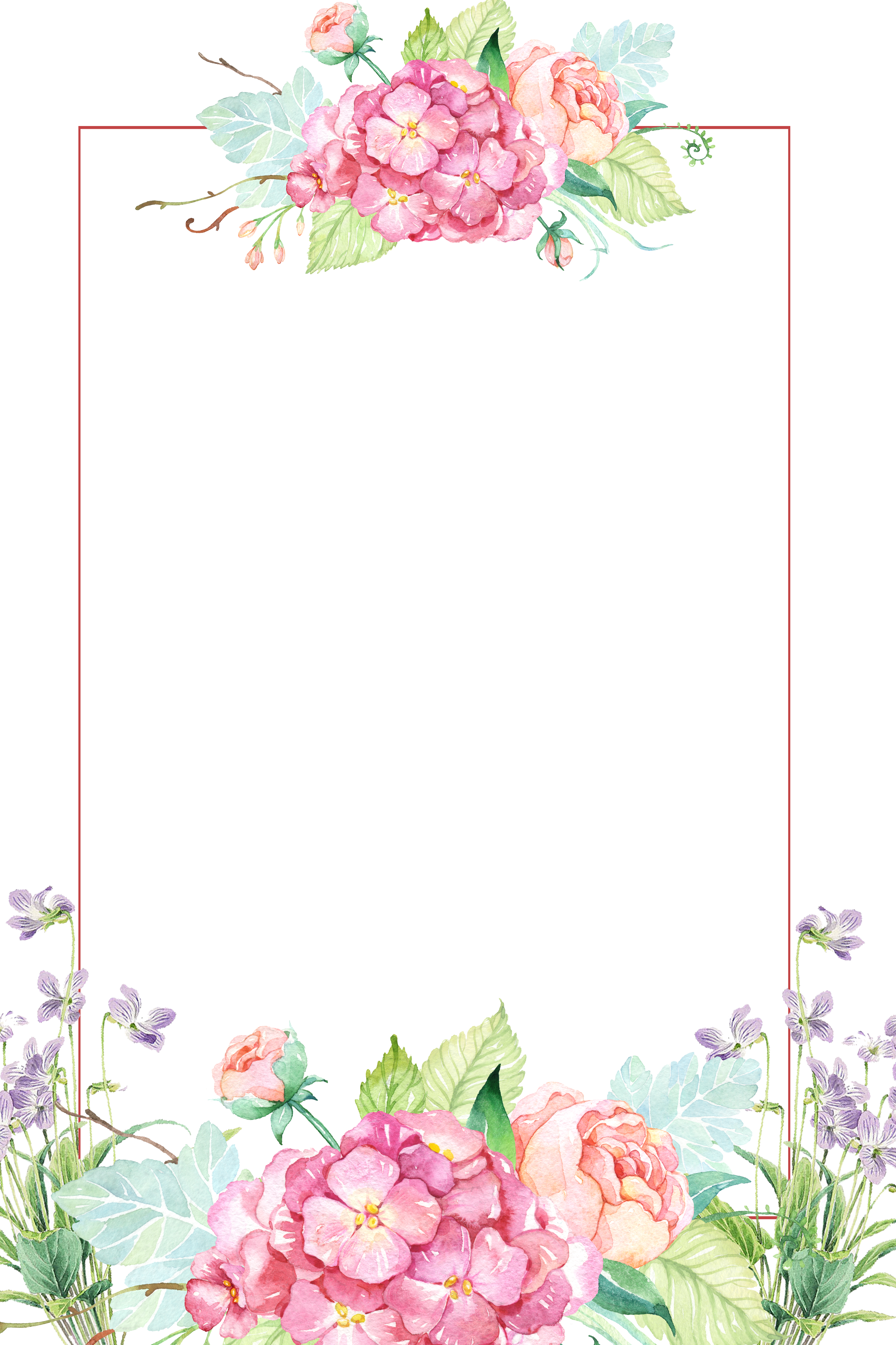Flower Clip Art Beautiful Flower Borders 3543 5315 Transprent Png Free Download Pink Picture Frame Pla Flower Painting Flower Border Hand Painted Flowers