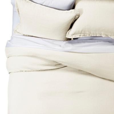 Sour Cream Lightweight Linen Duvet Cover Set King Fieldcrest