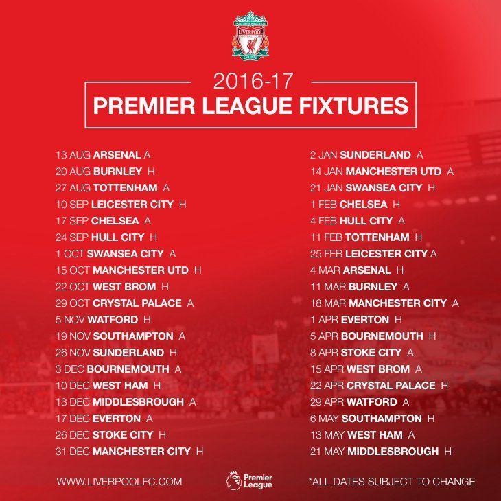 Download Liverpool Fixtures Today