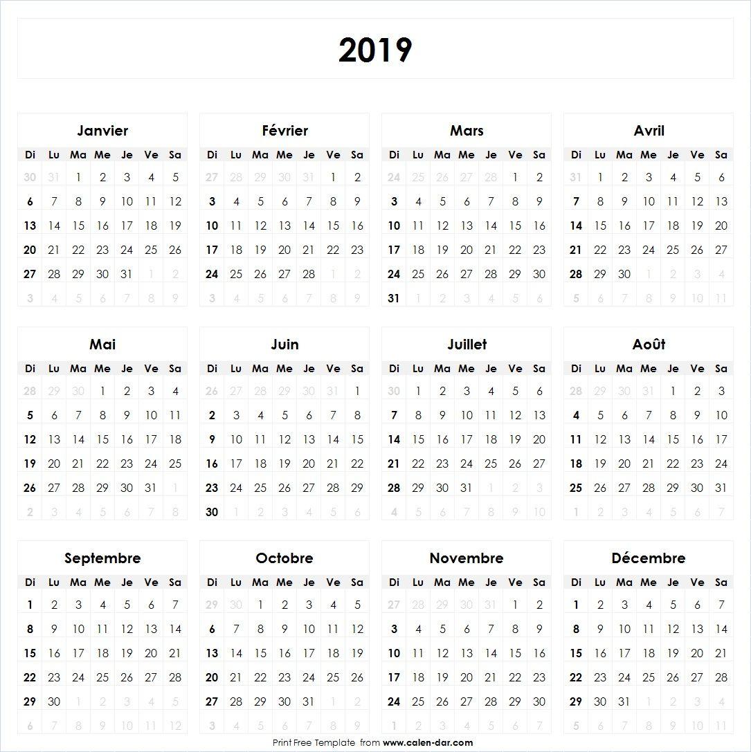 Calendrier 2019 Et 2021 Avec Jours Fériés Calendrier 2019 Vacances avec jours fériés | Bullet journal 2020