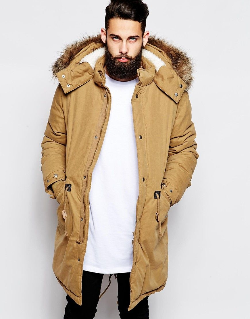 Image 1 of ASOS Fishtail Parka With Thinsulate | wardrobe ...