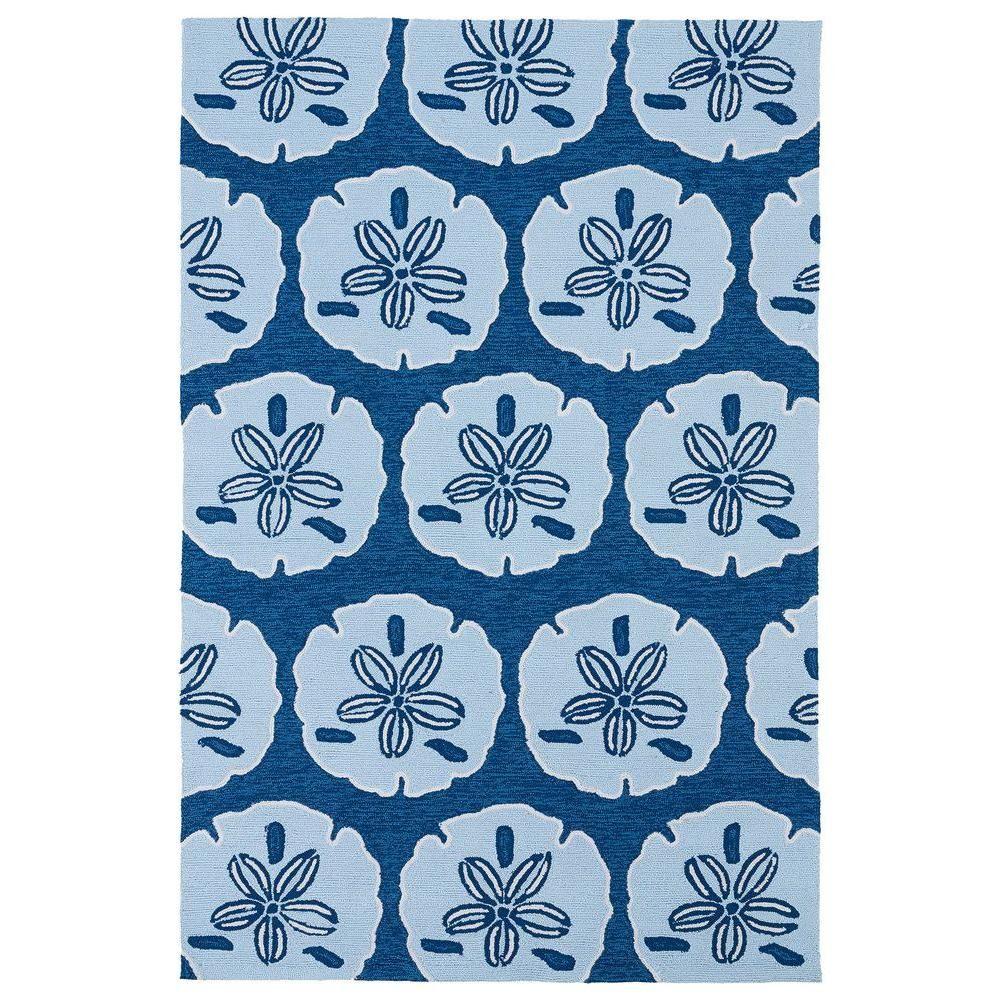 Kaleen Matira Blue 5 ft. x 7 ft. 6 in. Indoor/Outdoor Area Rug-MAT06-17 5 X 7.6 - The Home Depot