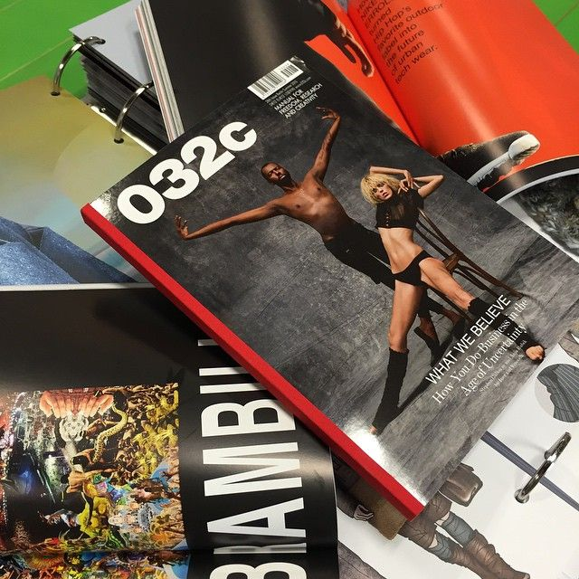 032c is a fashion and art magazine published twice a year