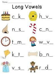 Grade 1 Long E Sound Worksheets