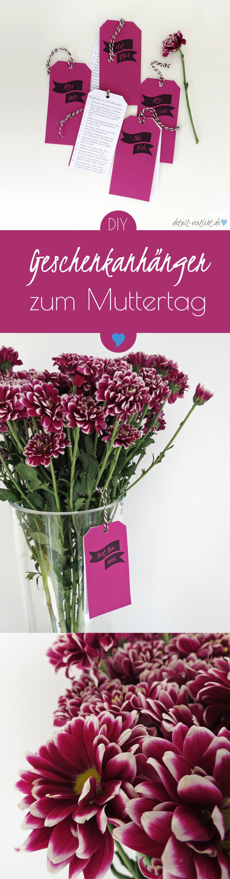 geschenkanhänger zum muttertag und 10 tipps wie schnittblumen, Gartengerate ideen