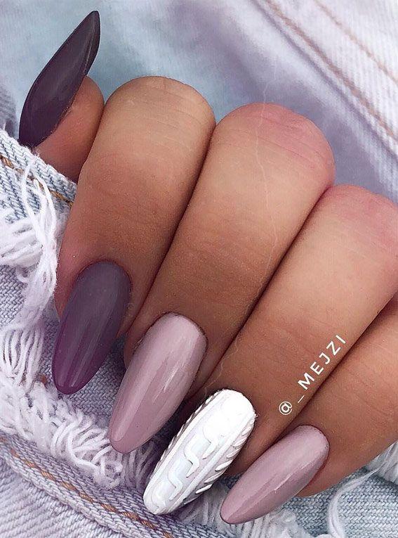 40 Beautiful Nail Design Ideas To Wear In Fall : M
