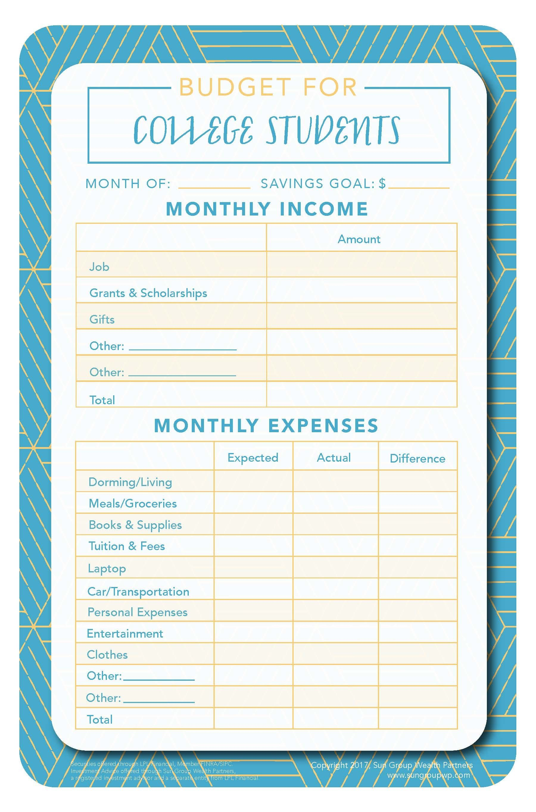 New Personal Budget Forms Exceltemplate Xls Xlstemplate