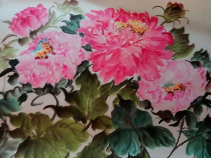 peony09262019-9 - sundongling watercolor  flower