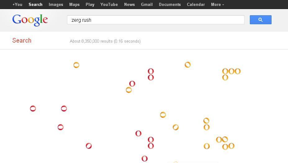 معني كلمة Zerg Rush وعلاقتها بمحرك البحث العالمي Google Zerg Rush Youtube News Rush