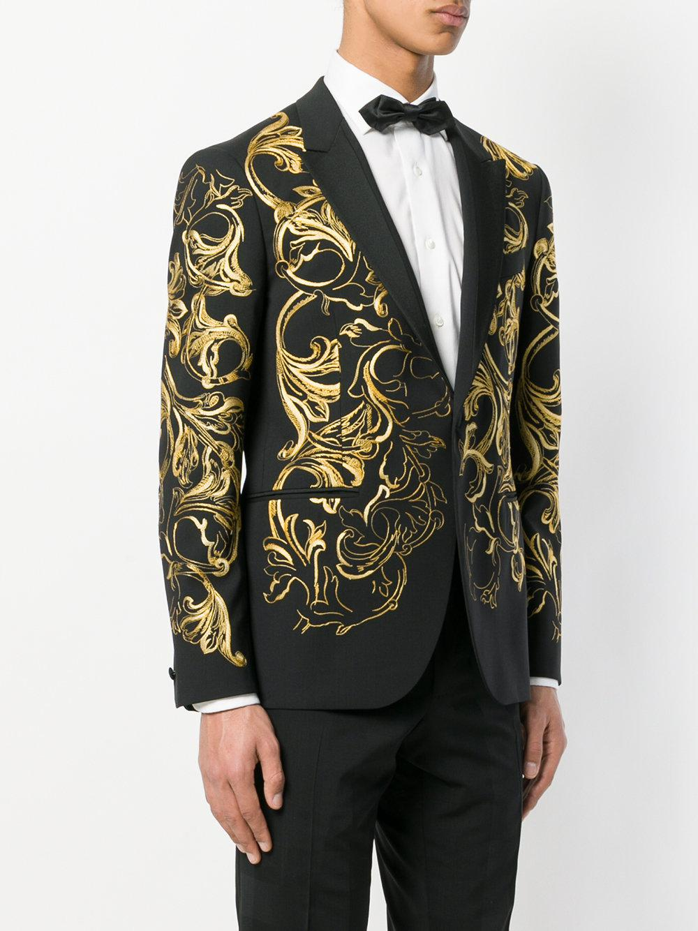 Black And Gold Suit : black, Versace, Black, Google, Search