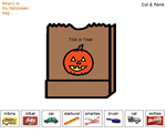 whats in my trick or treat bag – cut and paste