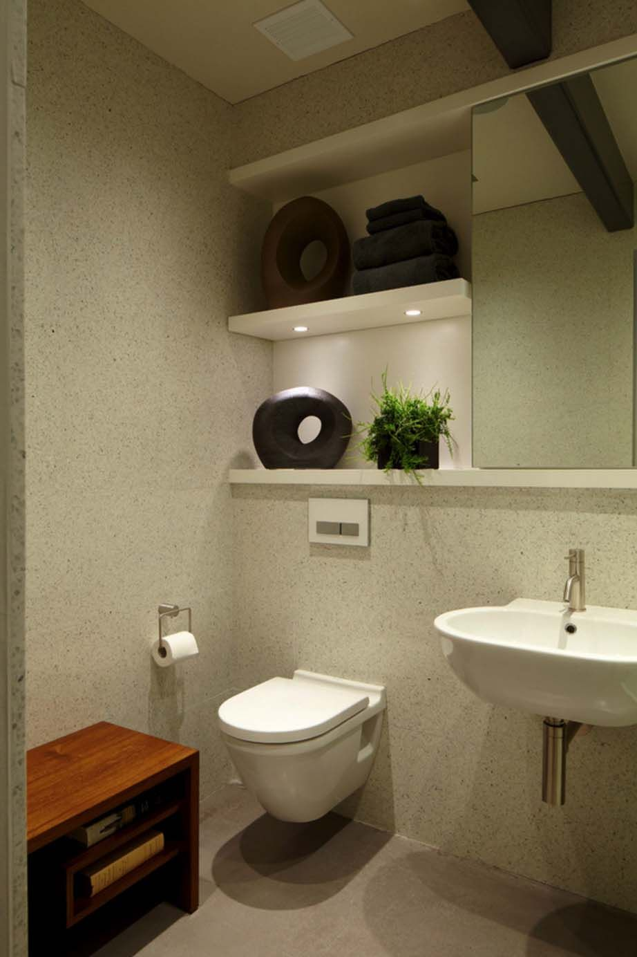 bathroom small space design%0A Modern waterfront property boasts small footprint in Port Washington  Small  Space BathroomBathroom