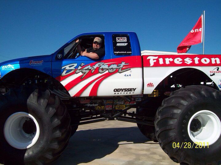 monster red blue and white truck | Monster Trucks | Pinterest