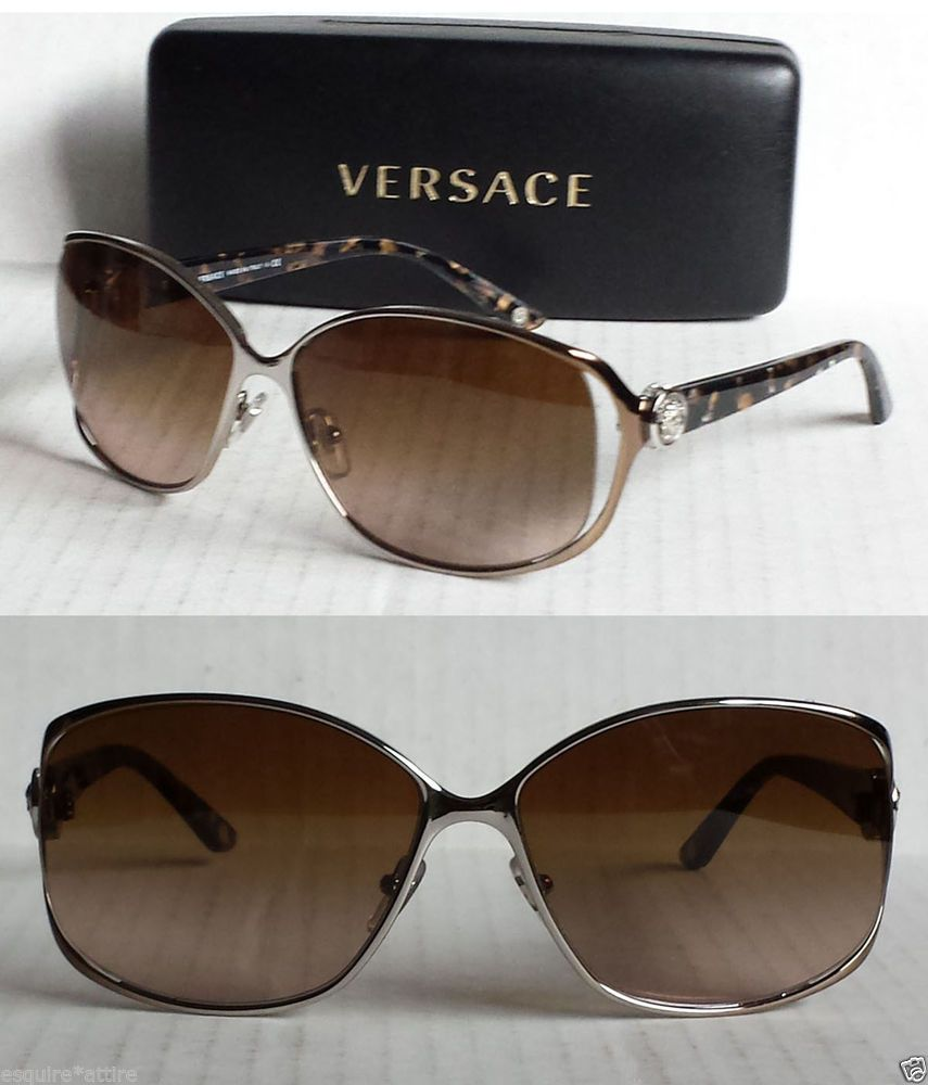 59d7cc3ee12 VERSACE women sunglasses Mod.2125-B made in Italy 100% UV designer brown   Versace  Designer  Ray  Bans (Ray Bans)