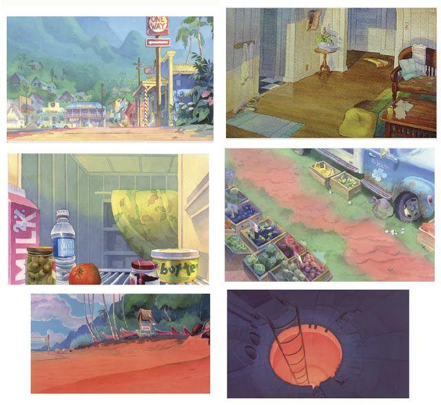 Chris Greco Portfolio Lilo And Stitch Bg Paintings Color Keys Idee Farbe Lilo Stitch Farbschema