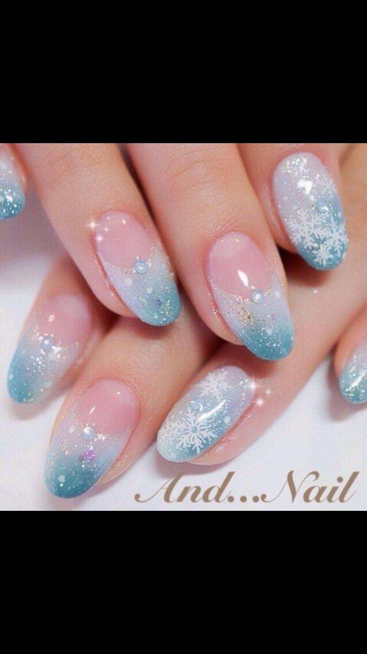2015 Halloween Snowflake Nails Decals Designs -Halloween Disney Frozen Elsa  Nails - Love it by - Frozen Nails Crazy Nails Pinterest Frozen Nails, Crazy Nails