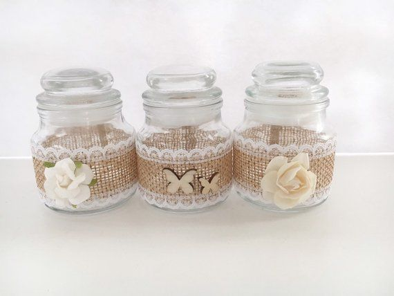 decorative glass jar small small shabby chic mason jar decoration rh pinterest com