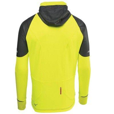 ae7d13533775 Mizuno Mens Running Apparel - Men's Static Breath Thermo Wind Top - 421575  Size Medium Black-Yellow (9030)