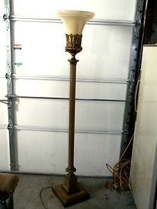 Gorgeous antique vintage deco torchiere floor torch lamp superior gorgeous antique vintage deco torchiere floor torch lamp superior funeral home ebay aloadofball Gallery
