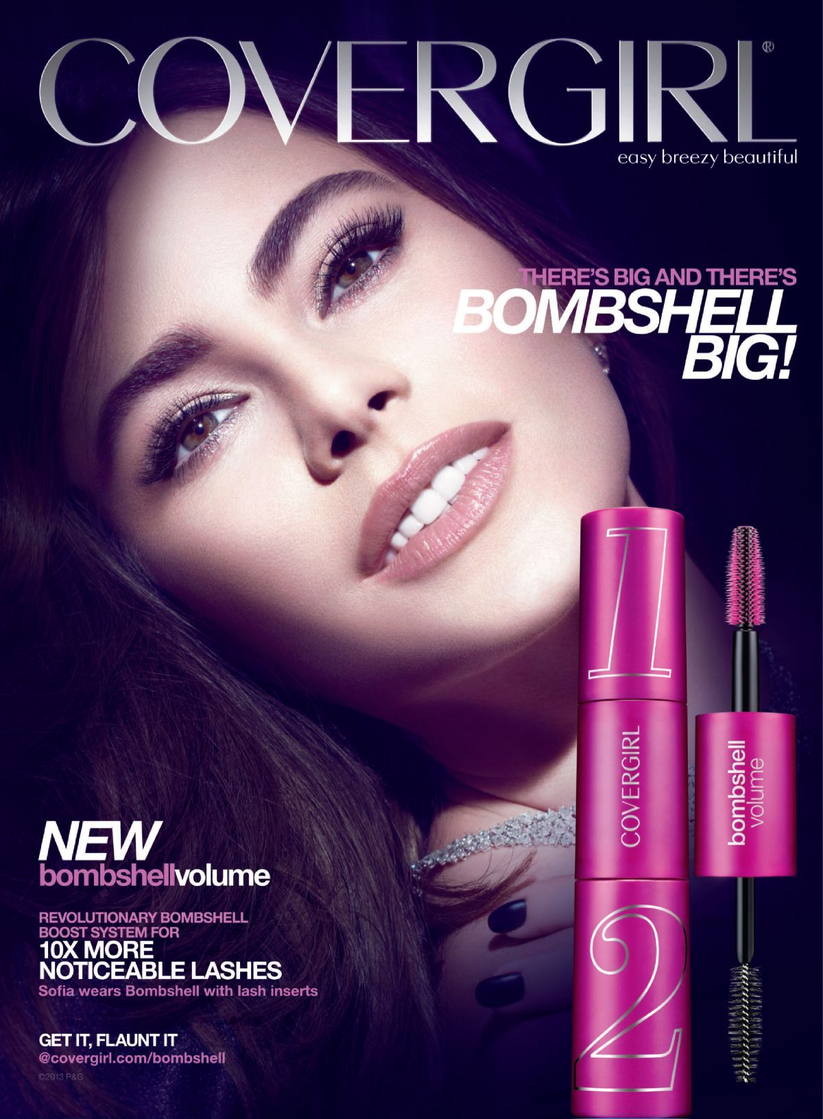 Sofia VergaraCover Girl Ad's Current Cosmetic