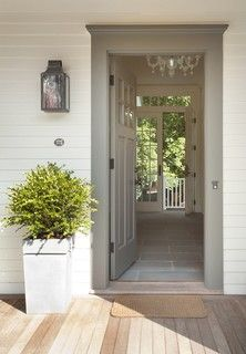Beautiful front door and trim color from Houzz \